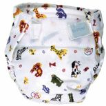 Baby diapers are often imprinted with child-friendly designs.